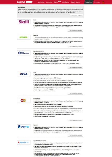 bet365 Auszahlungsmöglichkeiten